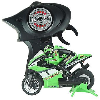 Remote control motorcycles electric mini rc motorcycle radio controlled 2.4Ghz racing motorbike children toy boys adults green