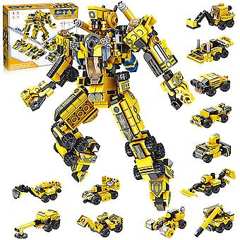 Building Toys For Kids 25-in-1 Engineering Transformers Robot