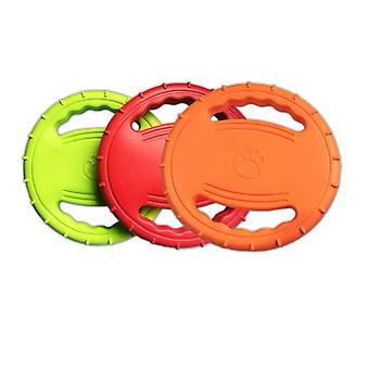 Frisbee And Throwing Discs - Interactive Toy For Medium And Large Sized Dogs - Outdoor Ringing Dog Toy Orange + Green + Orange
