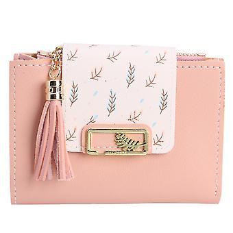 Mode Quasten Kurze Brieftasche Tasche für Frauen Pu Leder Clutch Taschen Süße koreanische Kartenhalter Weiblich Falten Kleine Münz geldbörse Bolsas