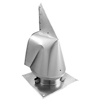 Steel Chimney Cowl Rotowent Various Materials Sizes Square Base 250mm OCOC