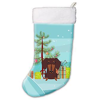 Merry Christmas Tree Dachshund Chocolate Christmas Stocking