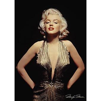 Marilyn Monroe Gold Dress Poster Print (24 x 36)