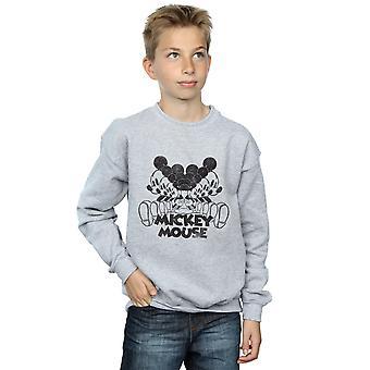 Disney Boys Mickey Mouse Mirrored Sweatshirt