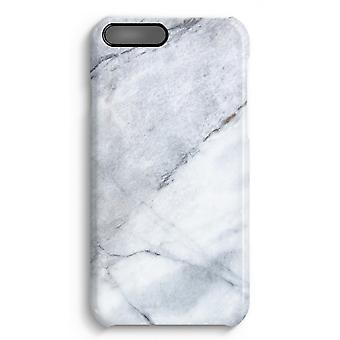 iPhone 7 Plus pełna obudowa głowiczki (błyszcząca) - marmur biały