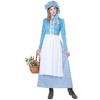 Pionierin Prairie Pilger alten Tag kolonialen viktorianischen Damen Kostüm