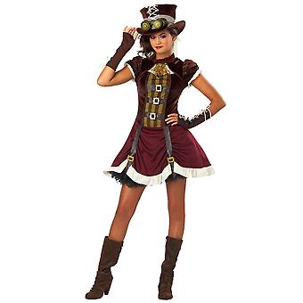 Steampunk Western 19th Victorian Gothic Science Fiction Tween Girls Costume