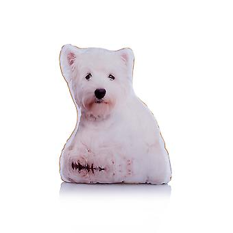 Adorable west highland terrier shaped midi cushion