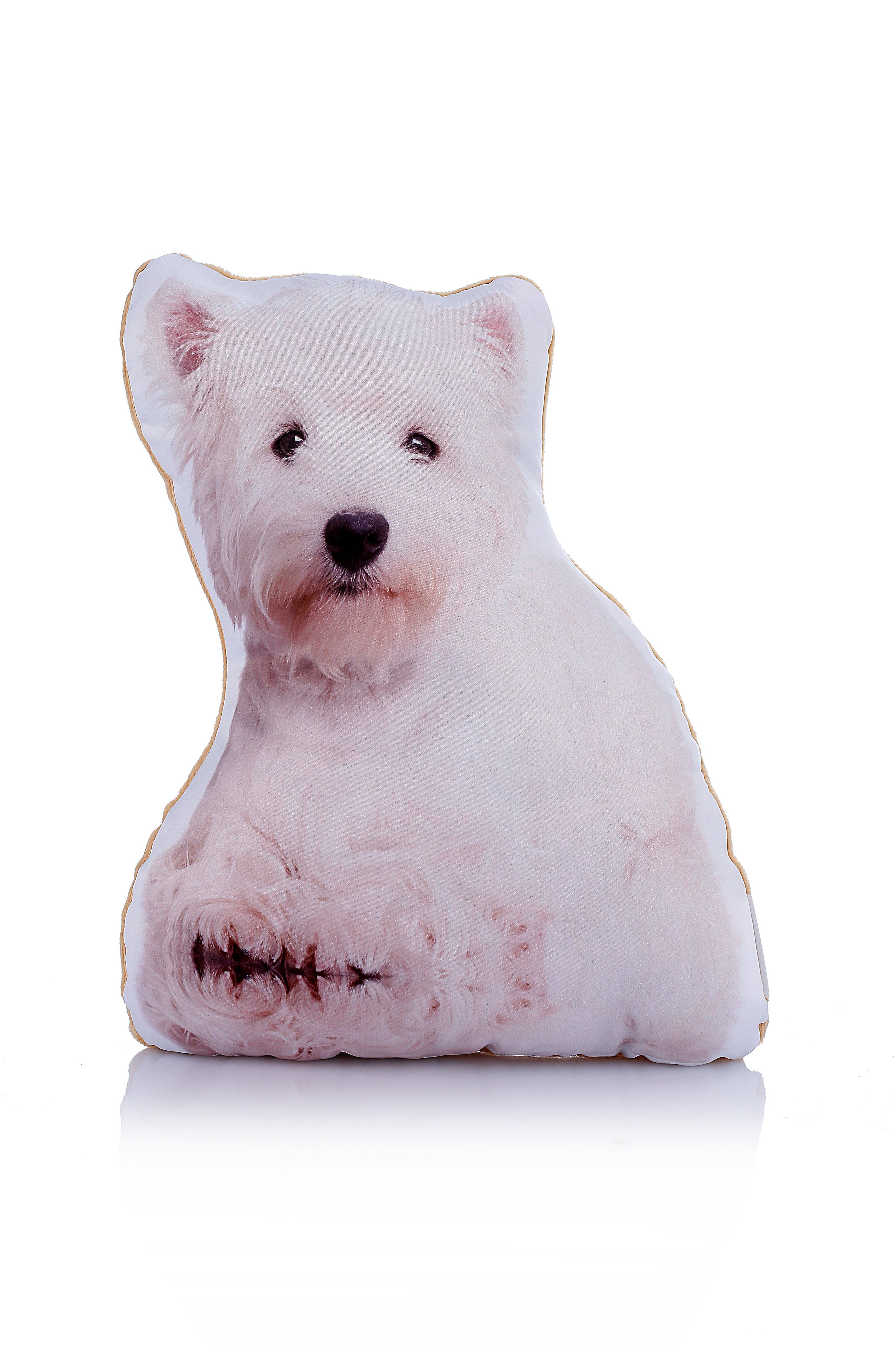 Adorable west highland terrier shaped midi cushion