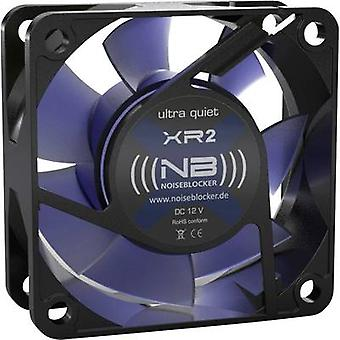Ventilatore NoiseBlocker BlackSilent XR-2 PC nero, blu (trasparente) (W x H x P) 60 x 60 x 25 mm