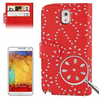 Téléphone portable téléphone portable housse pour mobile Samsung Galaxy Note3 N9000 Croix Rouge