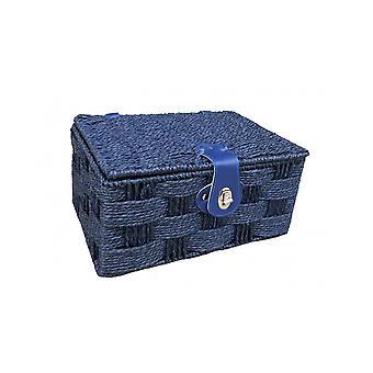 Nagy, sodrott kék papír piknik kosár