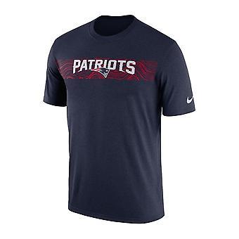 Patriotas de Nueva Inglaterra Nfl Nike marginar leyenda sísmica rendimiento camiseta