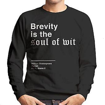 Zwięzłość jest dusza Wit Hamlet Shakespeare cytat bluza męska