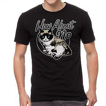Norse kat hoe zit geen mannen zwart grappig T-shirt