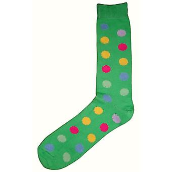 Bassin and Brown Spotted Midcalf Socks - Green/Multi-colour