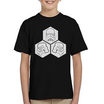 Original Stormtrooper Linie Kunst Helm Sechsecke Kinder T-Shirt