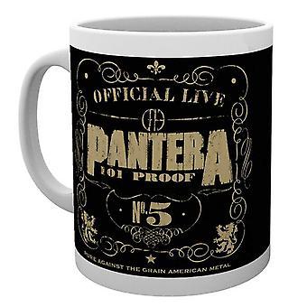 Official Pantera Mug 101 Proof Officially Live Band Logo new Boxed