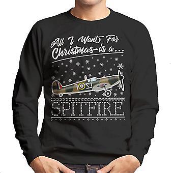 Alt hvad jeg ønsker For julen er en Spitfire mænds Sweatshirt