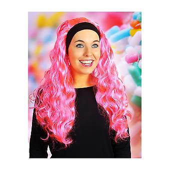 Wigs  Wig with long hair and hair band Jenna Hot Pink
