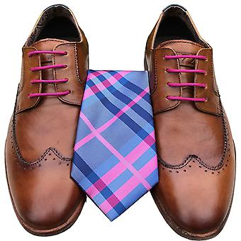 Pink Check Set Laces