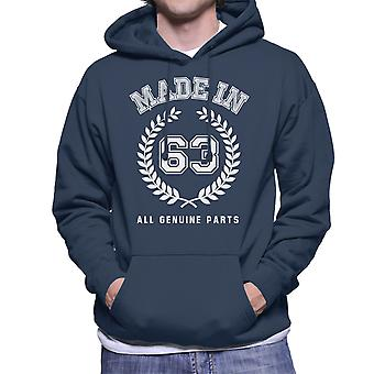 Made In 63 All Genuine Parts Men's Hooded Sweatshirt