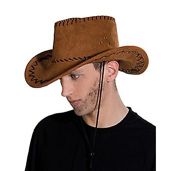 Cowboy pălărie de piele de căprioară aspect maro