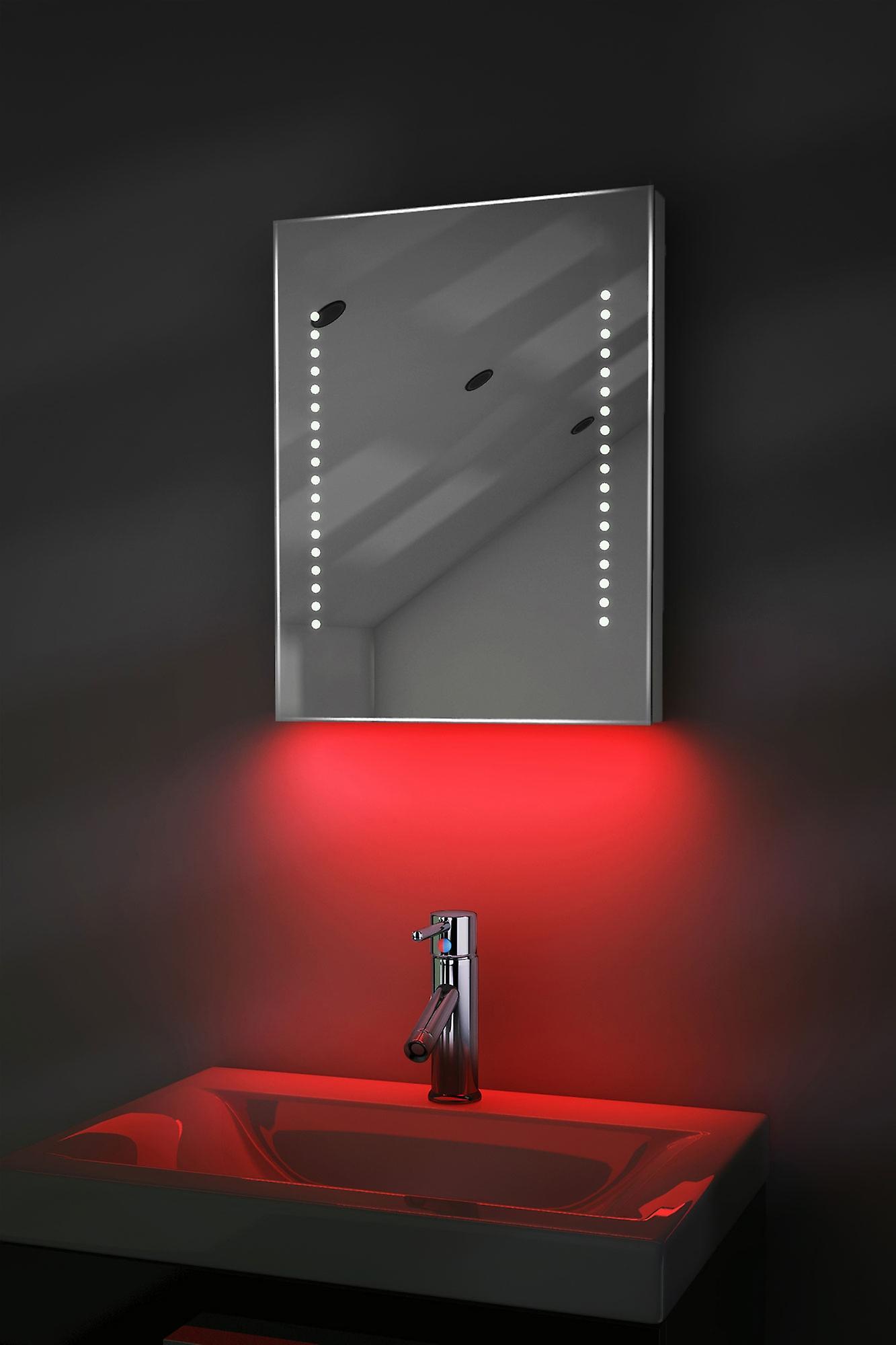 Auto couleur changement Rgb ultra-Slim miroir avec désembuage & K36Rgb capteur