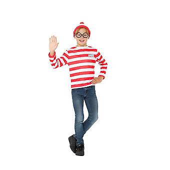 Where's Wally? Instant Kit Licensed Fancy Dress,Large Age 10-12