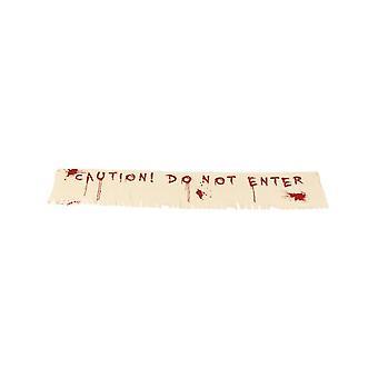 تنبيه لا تقم بإدخال الديكور لافتة الدموية، القماش، 180x35cm/71x14in