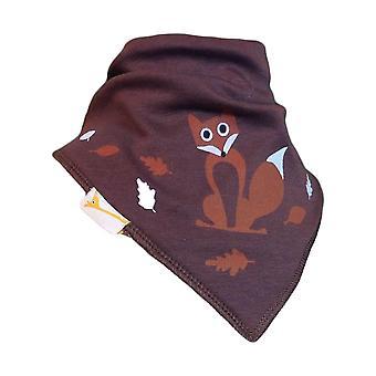 Brown fox bandana bib