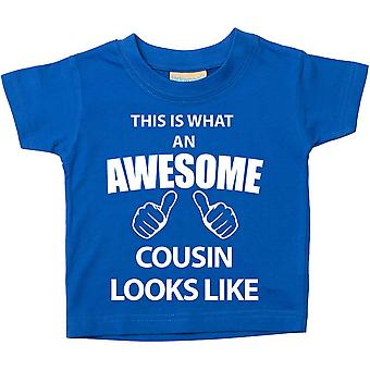 This is What An Awesome Cousin Looks Like Blue Tshirt