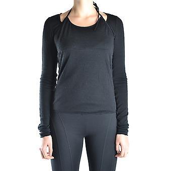 Neil Barrett Ezbc058005 Women's Black Cotton Blouse