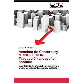 كانتربري دي أنسيلمو مونولوجيون ترادوكسيون بن أنوتادا اسبانيول قبل كورتي إنريكي كاميلو