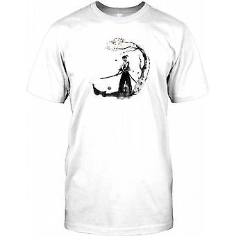 Samurai kriger med sværd-Herre T shirt