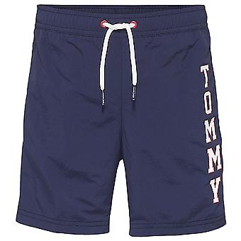 Tommy Hilfiger Boys Logo Drawstring Swim Shorts, Navy Blazer, XX-Large
