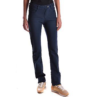 Brema Ezbc146012 Women's Blue Cotton Pants