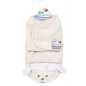 First Steps Mink Sherpa Swaddle Blanket