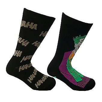 DC Comics Joker Assorted sukat (2 paria)-yksi koko