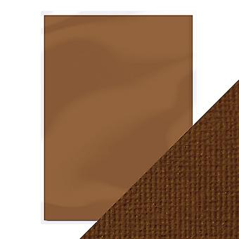 Craft Perfect A4 Weave Textured Card Chocolate Brown Tonic Studios