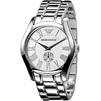 Emporio Armani Ar0647 Mens Stainless Steel Silver Dial suunnittelija Watch