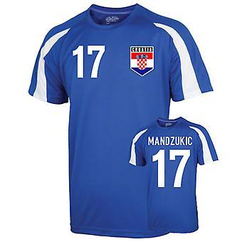 Kroatien sport Training Jersey (mandzukic 17)