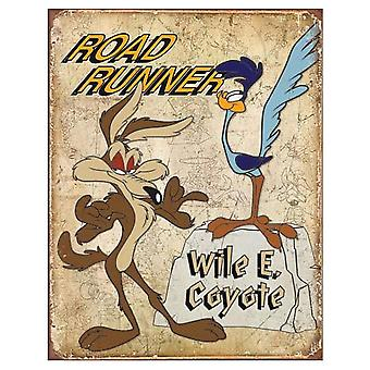 Road Runner and Wile E. Coyote Retro Tin Sign