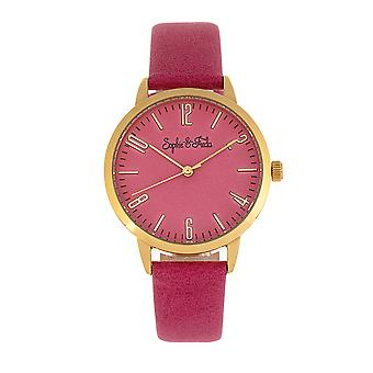 Sophie and Freda Vancouver Leather-Band Watch - Pink