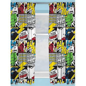 Marvel Avengers Scribble curtains 168cm x 183cm