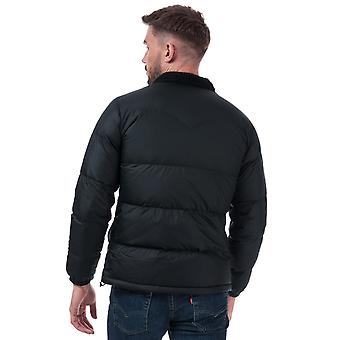 Mens Levis Down Barstow Puffer Jacket In Black- Zip Fastening- Ribbed Cuffs-