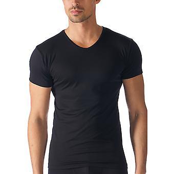 Mey 42607-123 Men's Software Black Solid Colour Short Sleeve Top