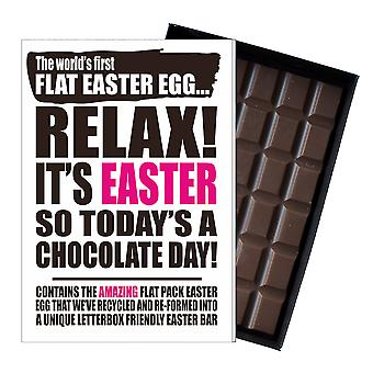 Śmieszne płaskie Easter Egg czekolada bar powitanie karty prezent mężczyźni kobiety Friend UK EIYF136