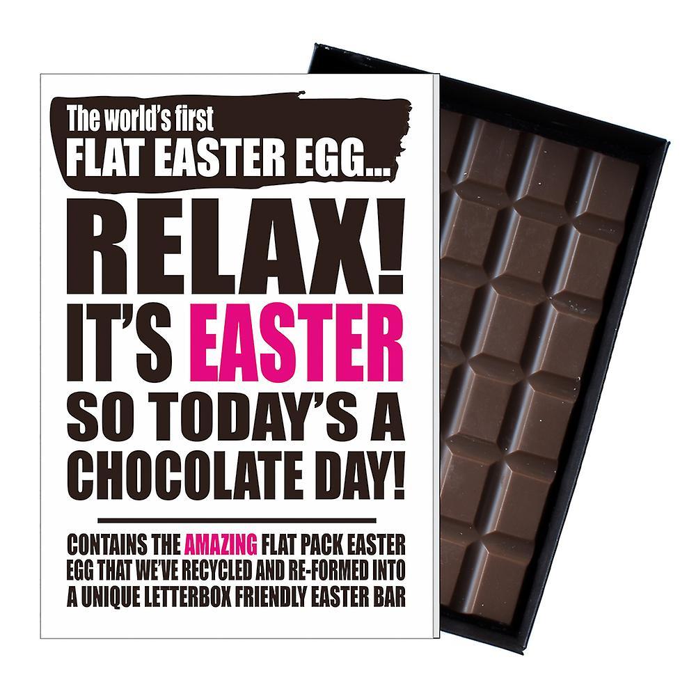 Funny Flat Easter Egg Chocolate Bar Greeting Card Gift Men Women Friend UK EIYF136