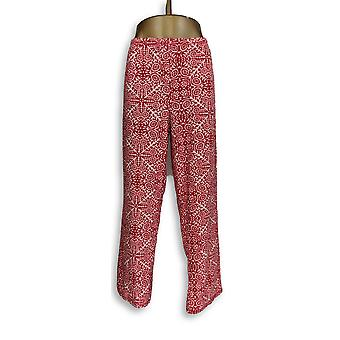 Carole Hochman Women's Lounge Pants Waffle Fleece Novelty Red A311258